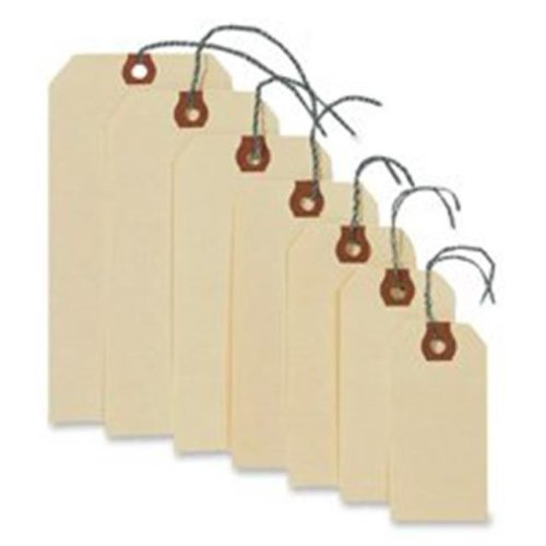 Consumer Products  Shipping Tags W-Wire- No 5- 4-.75in.x2-.38in.- Manila