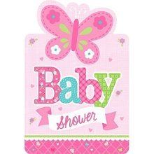 Welcome Baby Girl Postcard Invitations - /8