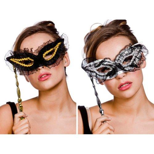 Lace Eye Mask on Stick
