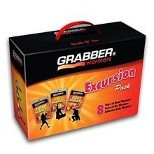 Grabber Warmers Grabber Excursion Multi-Pack Warmer Box, 8 Pair Hand, 8 Pair Toe, 8 Peel N Stick Body Warmers, 24-Count