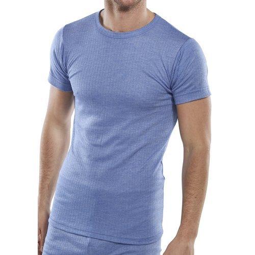 Click THVSSXL Thermal Vest Short Sleeve Blue XL