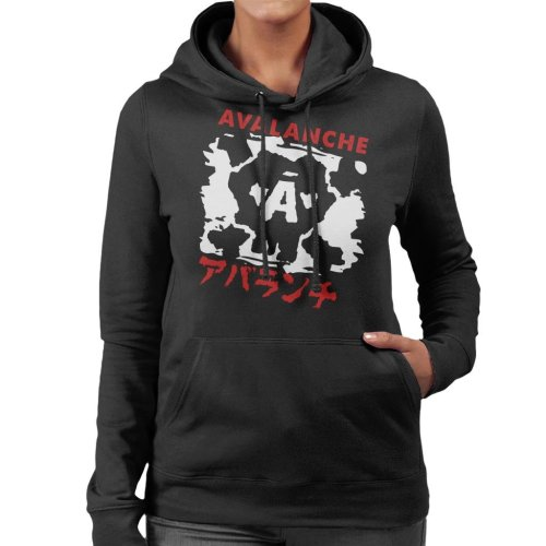 Avalanche Graffiti Final Fantasy VII Women's Hooded Sweatshirt