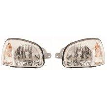 Hyundai Santa Fe 2000-2006 Headlights Headlamps 1 Pair O/s & N/s