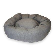 Grey Glitter Donut Dog Bed