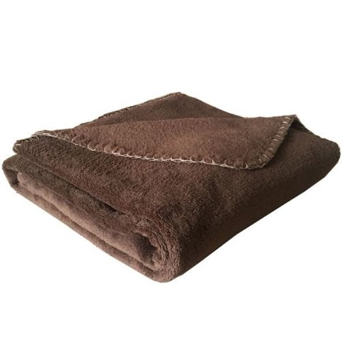 Coral Fleece Dog Blanket Brown - 100 x 74cm