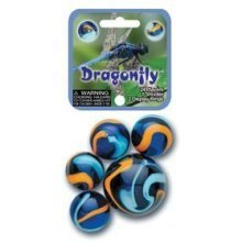 Dragonfly Game Net Set 25 Piece Glass Mega Marbles Toy