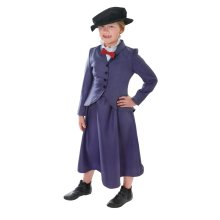 Large Girls Victorian Nanny Costume -  nanny fancy costume dress girls poppins victorian mary kids outfit book week childs FANCY DRESS KIDS VICTORIAN