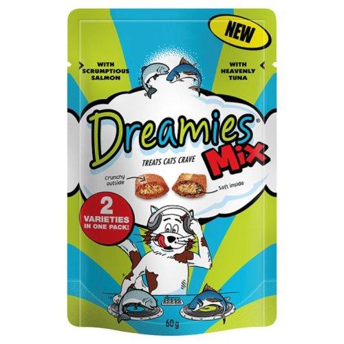 Dreamies Mix Salmon & Tuna 60g (Pack of 8)