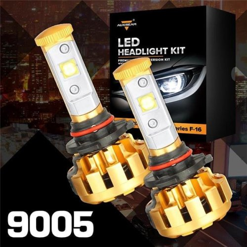 Auxbeam 88621847 F-16 Series 9005-HB3-H10 LED Headlight Vehicle Conversion Bulb