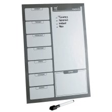 Magnetic Fridge Board Large Weekly Meal Planner Shopping Drywipe A3 Notice Board