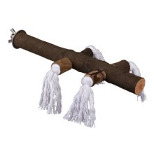 Natural Living Perch With Rope, 25 Cm/ø 25mm - Bird Rope Trixie Wood Cage -  perch natural bird rope trixie wood cage sizes 2 living parrot 25cm