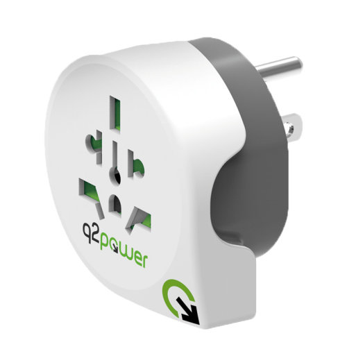 Travel Adapter World-to-USA Earthed Plug Socket Converter IT/UK/AUS/NZ/CH
