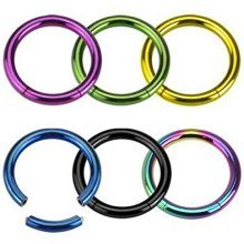 Titanium Plated Seamless Segment Ring Surgical Steel CBR Universal Piercing Body Jewellery