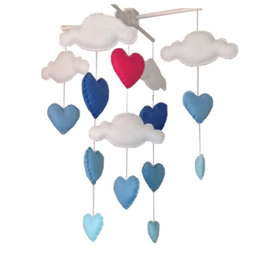 DIY Nursery-Mobiles For Crib Decorations Toy, Need Sewing, Blue