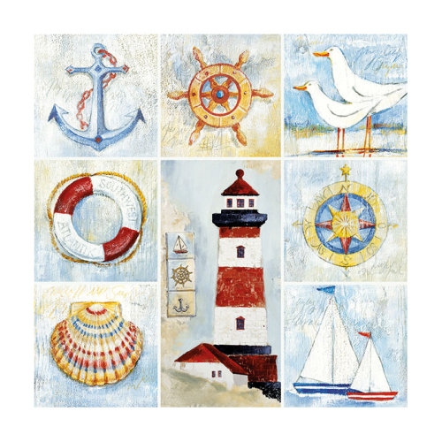 Ambiente 3 Ply Paper Lunch Napkins, Seaside