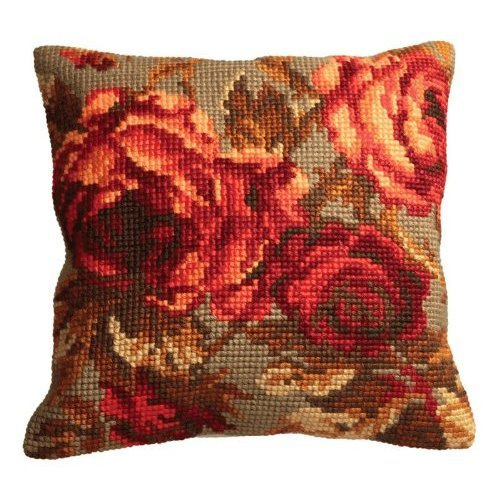 RTO Red and Black I Collection DArt Stamped Needlepoint Cushion Kit 40 x 40cm