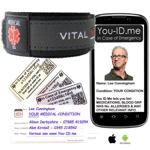Medical Alert Bracelet Emergency ID Wristband