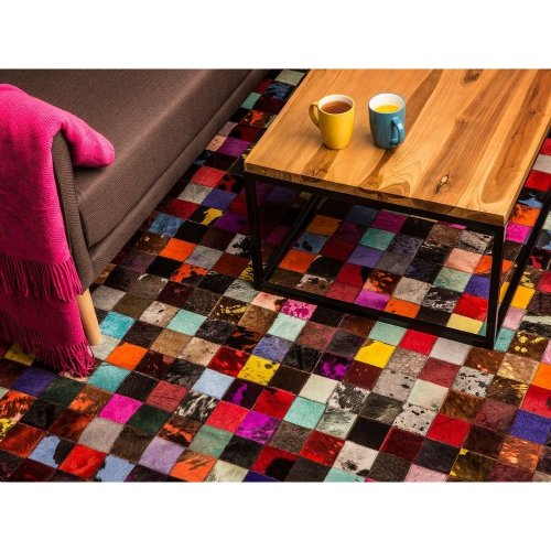Patchwork Rug from Leather 160 x 230 cm - ENNE