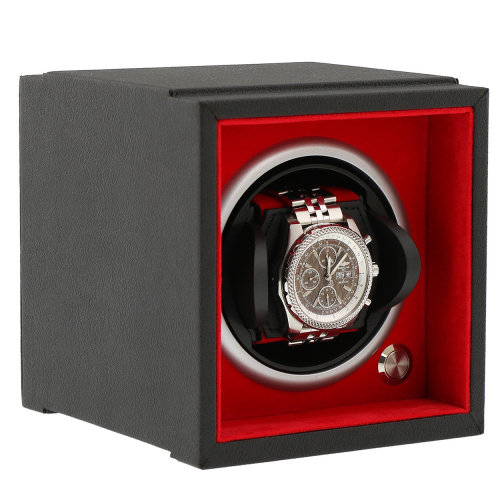 Watch Winder Larger Wrist Sizes Soft Touch with Red Inner by Aevitas