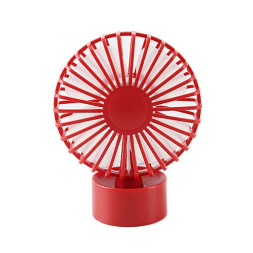Fashion Simple Design USB Fans Portable Fan Desk Fan for Office, Red