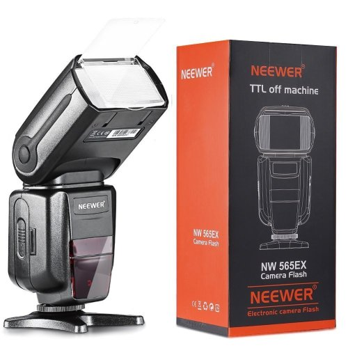 Neewer NW-565 EXN I-TTL Slave Speedlite with Flash Bounce Diffuser for Nikon D4, D3s, D3x, D300s, D200, D100, D80, D70s, D3200, D3100, D3000, D60,...