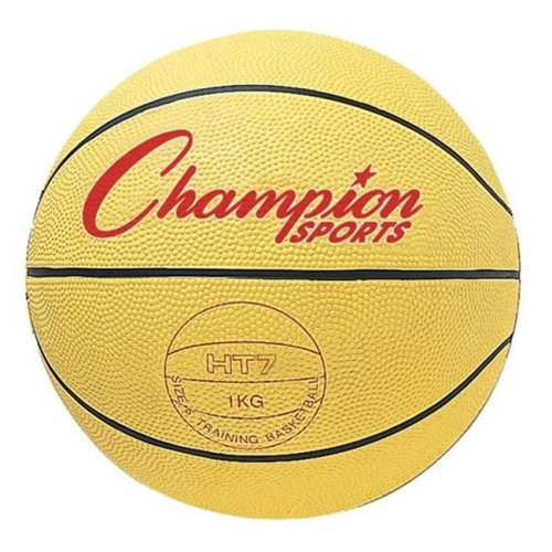 Champion Sports HT74 29.5 in. Weighted Basketball Trainer, Yellow - 4.5 lbs