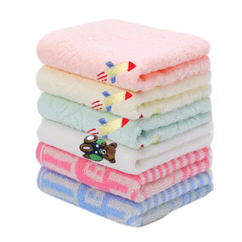 Set of 6 Rectangular Cotton Soft Touch Towels for Baby #5