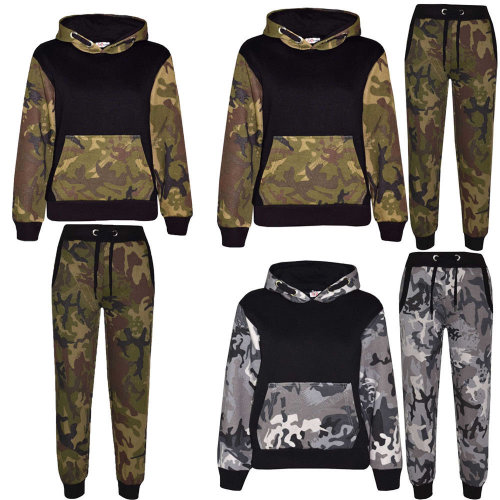 Boys' Camouflage Fleece Tracksuit Set