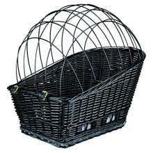 Trixie Bicycle Basket For Carrier, With Lattice, 35x49 55cm, Black - Lattice -  bicycle basket trixie lattice carrier 35x49 55cm black plastic coated