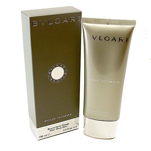 Bvlgari Pour Homme Aftershave Balm for Men, 3.4 Ounce