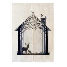 Mythology Colorful Forest Fashion Curtain
