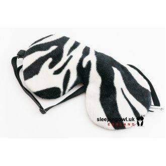 Zebra soft Velvet Padded Blackout Sleep Eye Mask Sleeping Blindfolds