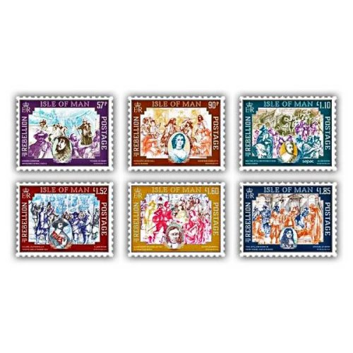 Isle of Man 2019 Stamps The Age of Rebellion Set (Mint)