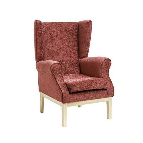 MAWCARE Ashbourne Orthopaedic High Seat Chair - 21 x 18 Inches [Height x Width] in Darcy Bordeaux (lc23-Ashbourne_d)