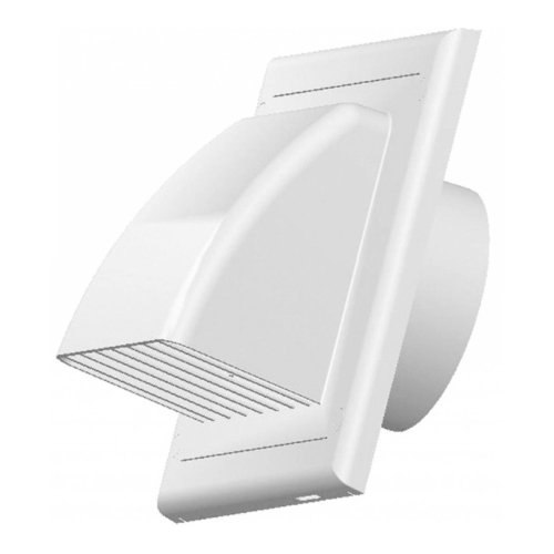 Vents Ventilation Grate Covering Return Flap ABS White Outer Cover 100-150mm