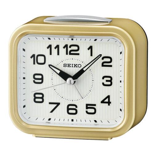 Seiko Quiet Sweep Second Hand Bell Alarm Clock│Plastic Case│Gold