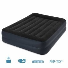 Intex 64124 Inflatable Double Bed with Pump Added Height