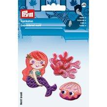 Prym Iron On Patch Set 3 Mermaid Quality Motif Trimming Application