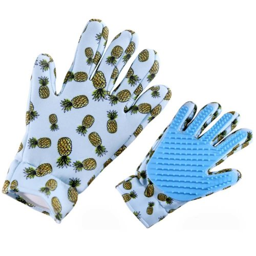 Pet Grooming Glove for Cats Pet Glove Hair Removal Left