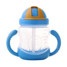 Leakproof Trainer Cup Silicon Sippy Cups BPA FREE ,blue C
