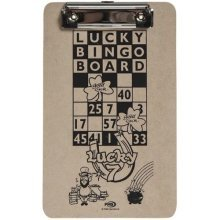 15cm x 25cm Lucky Bingo Clip Board - Single Top Hold Card 1st Class Post A5 -  bingo clip lucky board single top hold card 1st class post a5 hard