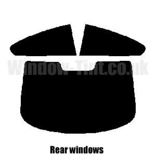 Pre cut window tint - BMW 6 Series 2-door Coupe E63 - 2004 to 2010 - Rear windows