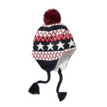 Warm Hat Knitted Hat Plus Velvet Ear Protection Hat Five Star Spell Color