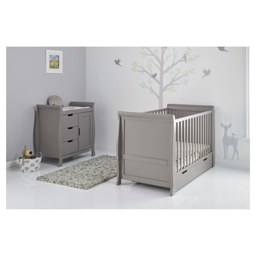 Obaby Stamford Classic 2 Piece Room Set - Taupe Grey