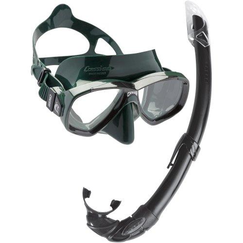 Cressi Perla Mare Combo Snorkelling Set - Green/Black