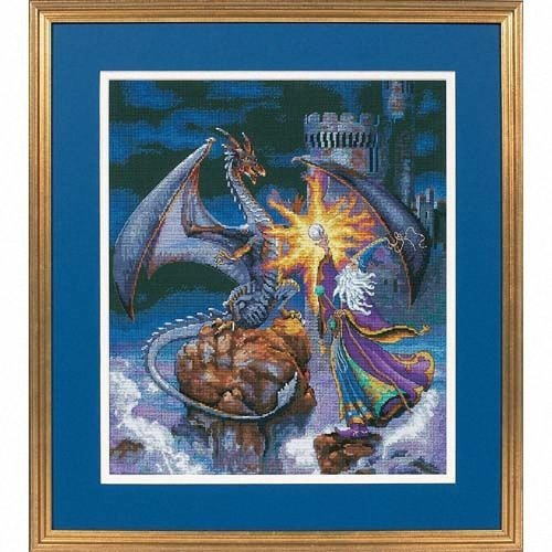 D35080 - Dimensions Counted X Stitch - Gold, Magnificent Wizard