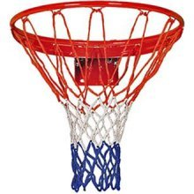 Red, White & Blue Pair Of Basketball Nets - Spare Ring Replacement Hoop -  basketball nets pair spare ring replacement hoop tricolour redwhiteblue