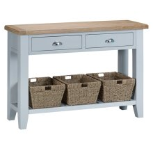 Suffolk Grey Painted Oak Large Console Table