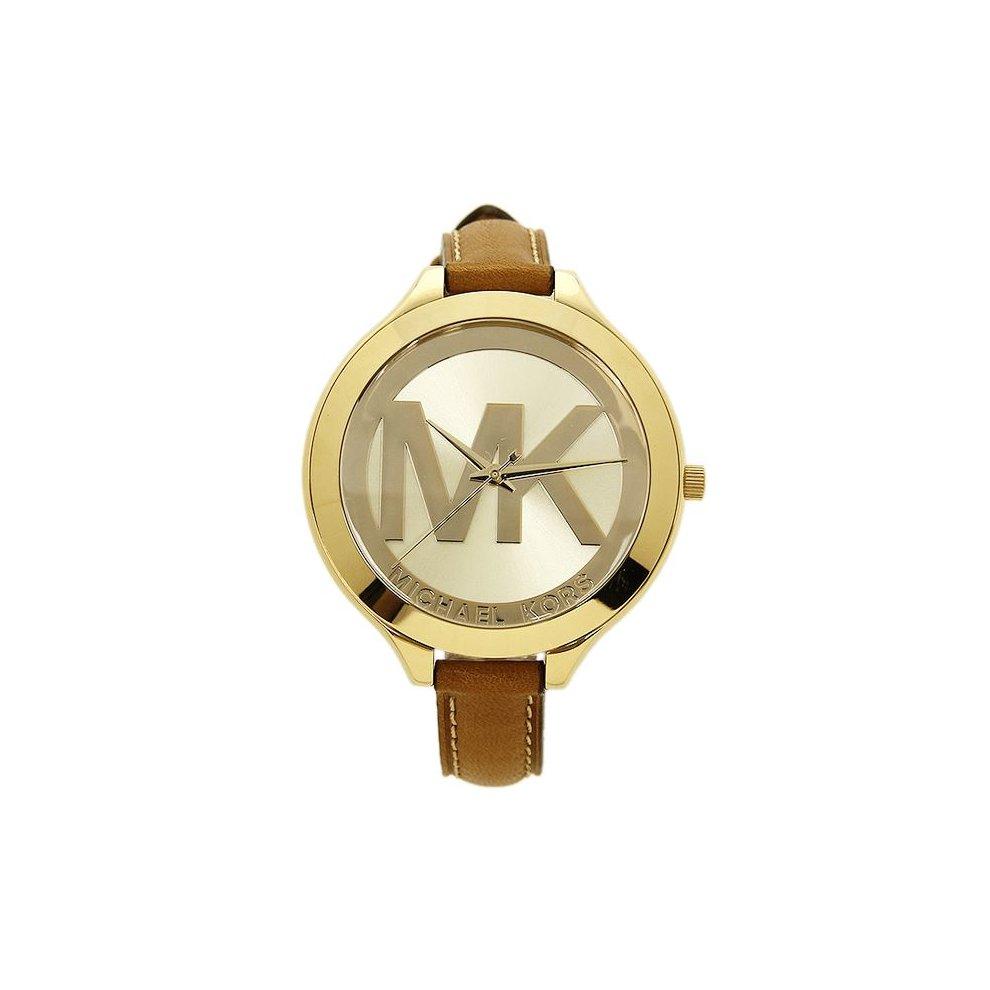 21180f5cab905 Michael Kors Slim Runway Ladies Watch Gold Dial MK Logo MK2326 on OnBuy