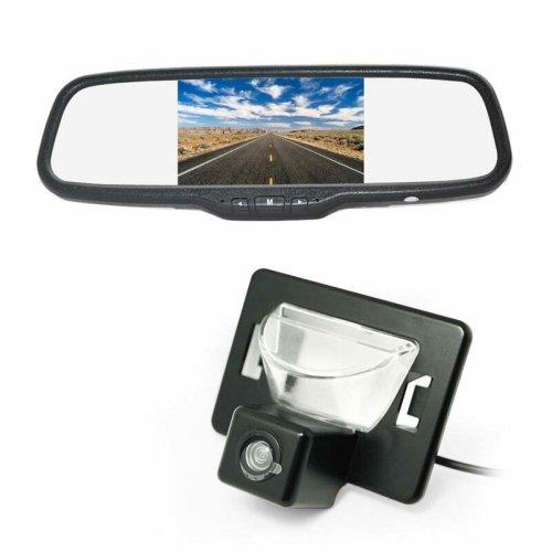 Vardsafe Reverse Backup Camera + Clip-on Rear View Mirror Monitor for Mazda Premacy Mazda 5 Ford i-MAX (2005-2010)